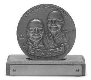 Founder's Award Medallon On Base